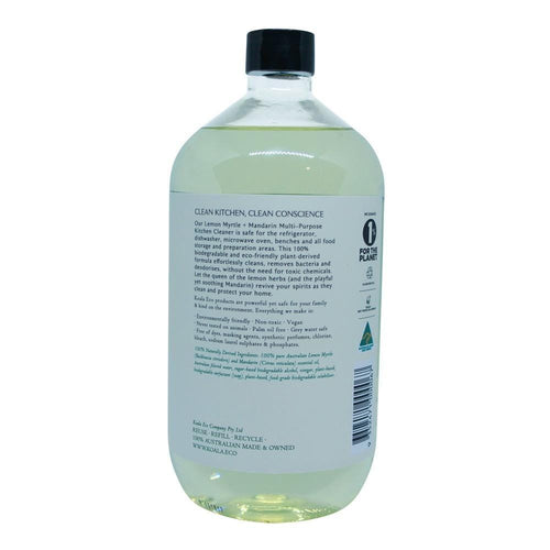 Koala Eco All Natural Multi-Purpose Kitchen Cleaner - Lemon Myrtle with Mandarin (1L Refill)