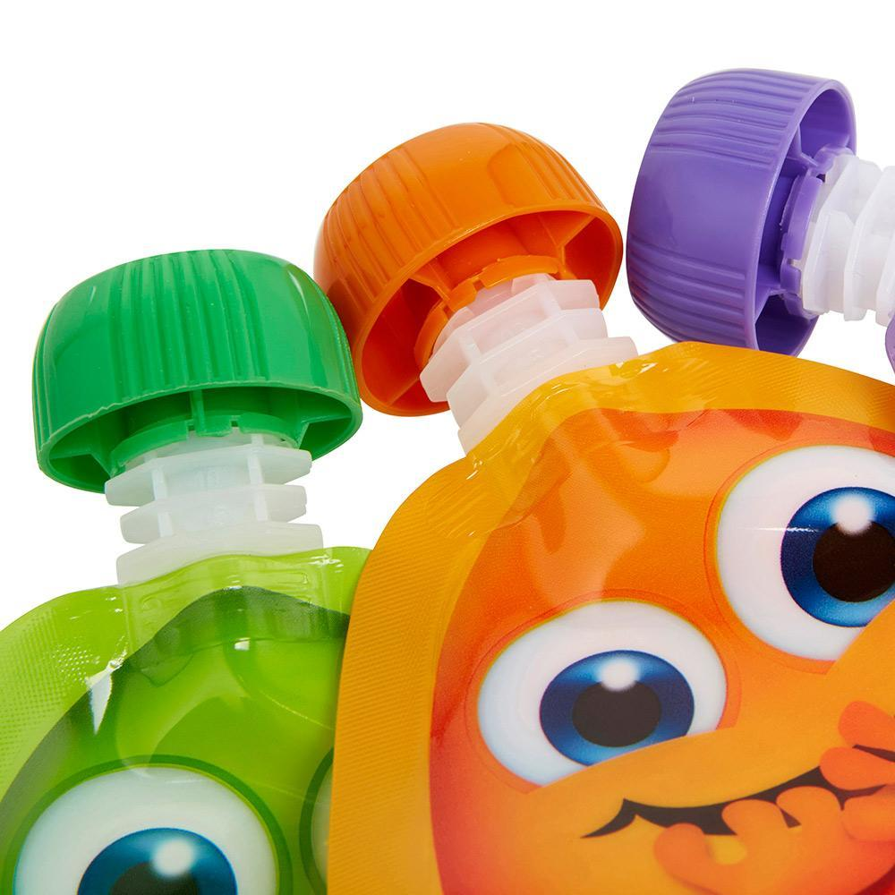Little Mashies Reusable Food Pouches, Mixed Colours - 10 Pack