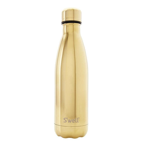 S'Well Water Bottle, Yellow Gold - 500ml