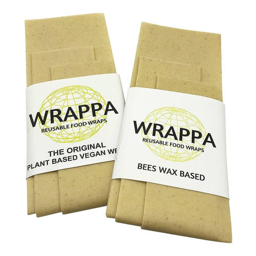 Wrappa Beeswax/Vegan Wraps, Natural - 3 pack