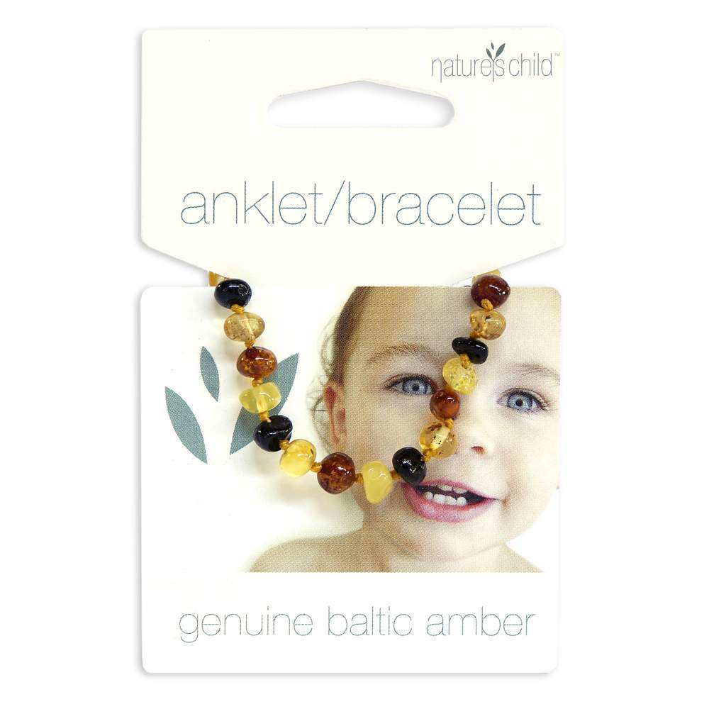 Nature's Child Baltic Amber Anklet/Bracelet, Mixed