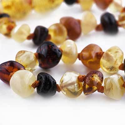 Nature's Child Baltic Amber Baby Necklace, Mixed