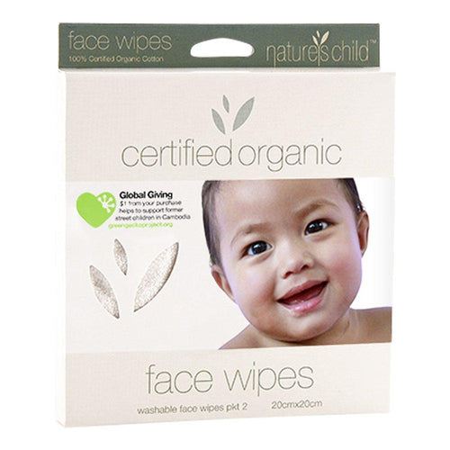 Nature's Child Organic Cotton Face Wipes (2 pack)