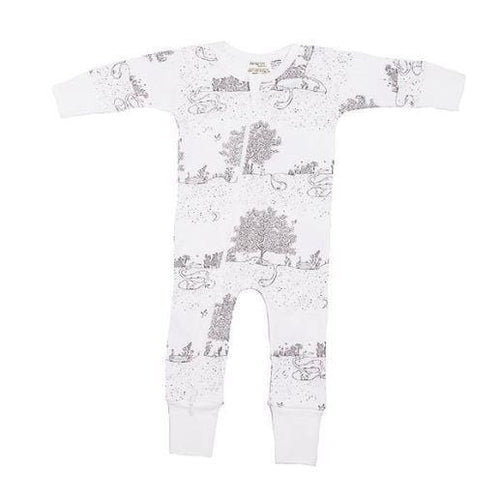 Niovi Organics Baby Zip Romper, Spring Time Night Garden- The Clean Collective