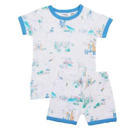 Niovi Organics Kids Short John PJ Set, Play Prince- The Clean Collective