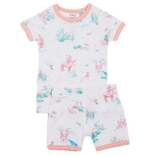 Niovi Organics Kids Short John PJ Set, Play Princess - The Clean Collective
