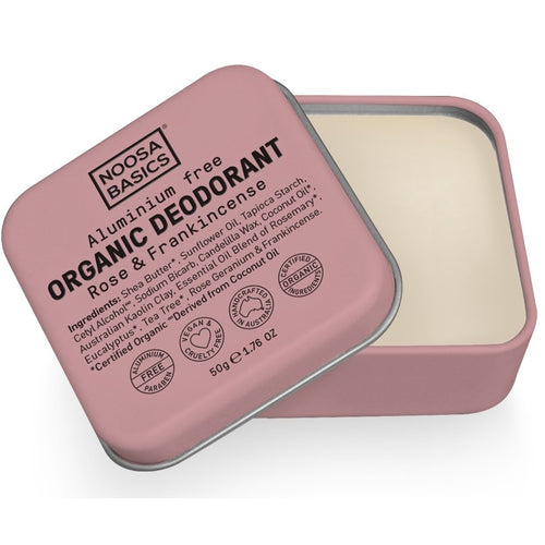 Noosa Basics Deodorant Cream Rose + Frankincense