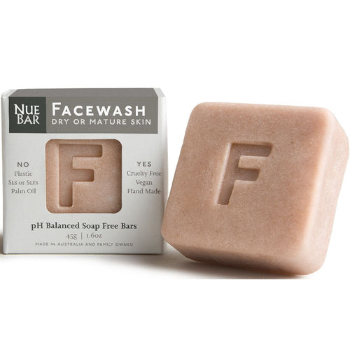 NueBar Facewash Bar, Dry or Mature Skin