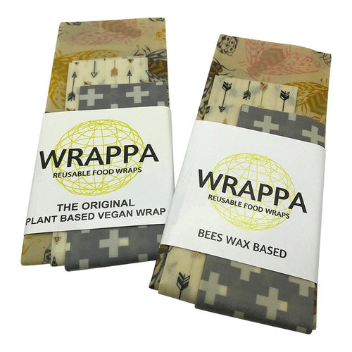 Wrappa Beeswax/Vegan Wraps, Bees - 3 pack