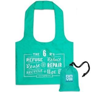 Onya Reusable Shopping Tote Bag, Aqua