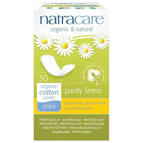 NatraCare Organic Cotton Panty Liners, Mini