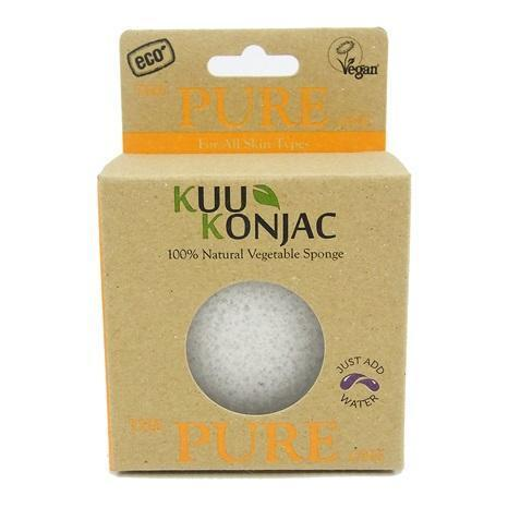 Kuu Konjac Biodegradable Konjac Vegetable Sponge - Pure