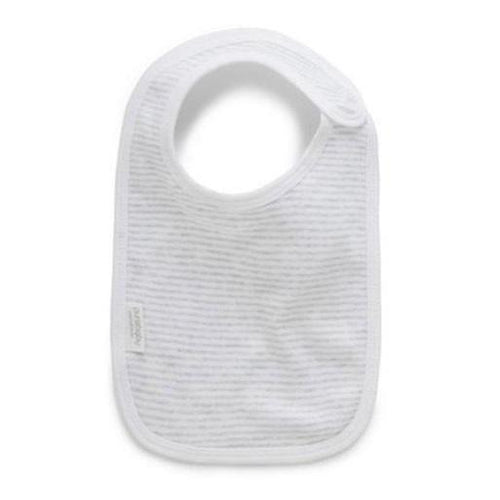Purebaby Bib Grey Stripe