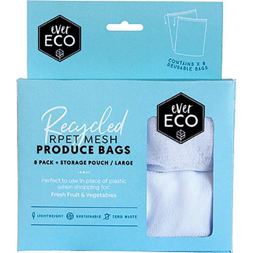 Ever Eco Recycled rPet Mesh Produce Bags - 8 Pack