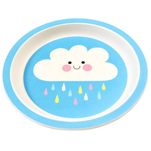 Rex London Bamboo Plate, Happy Cloud