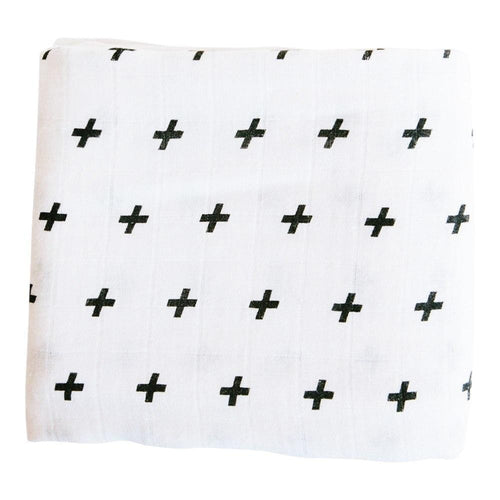 Saint Baby Organic Swaddle Blanket - Swiss Cross