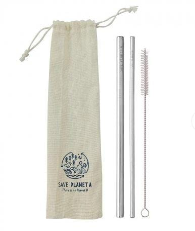 Save Planet A 2 Straws with Travel Pack + Cleaner