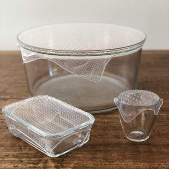 Seed & Sprout Reusable Clear Food Wrap Set