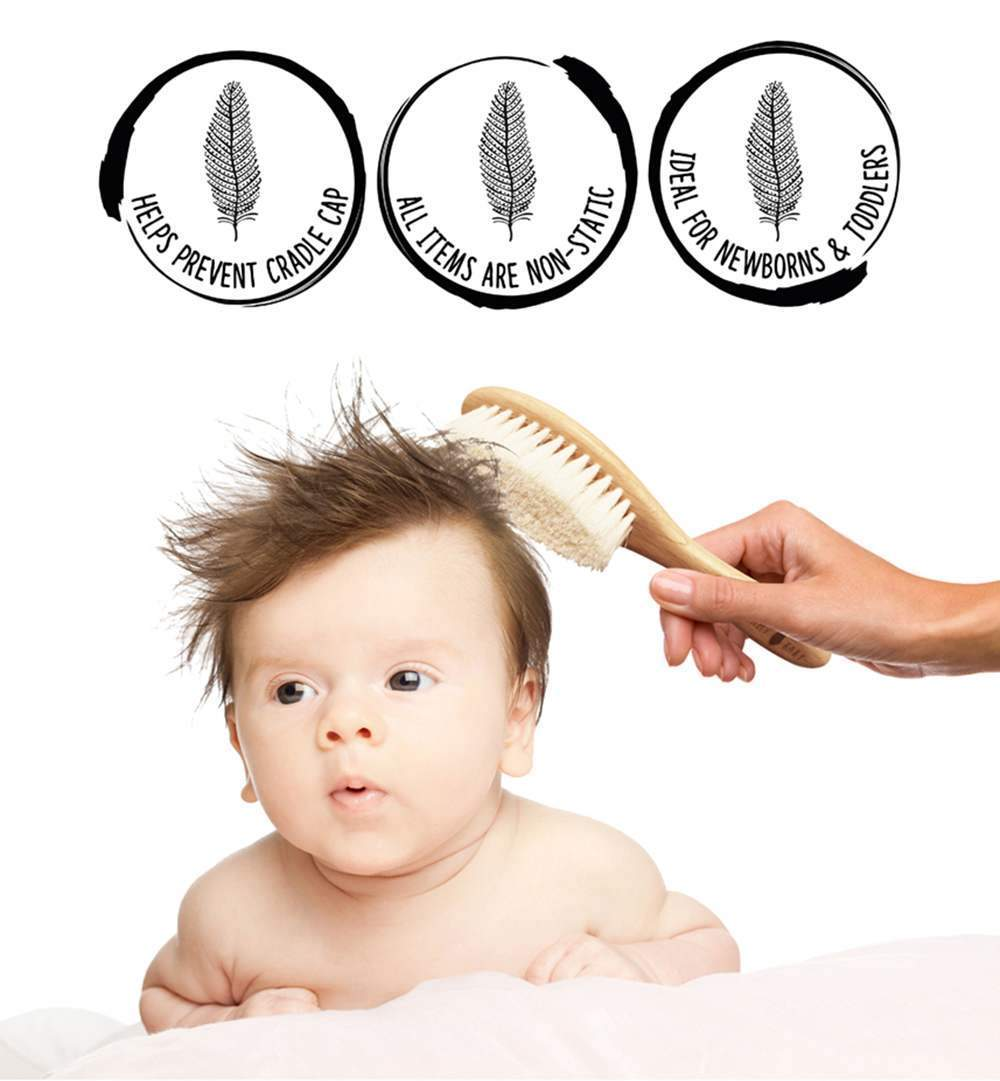 Shellamy Baby 3 Piece Hairbrush & Comb Set