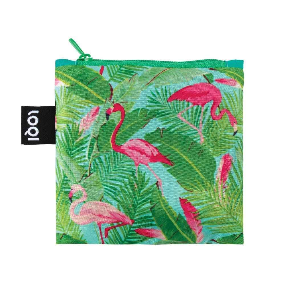 LOQI Shopping Bag, Flamingos