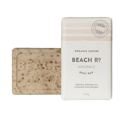 Beach Rd Naturals Body Bar - Organic Coffee scrub 200g