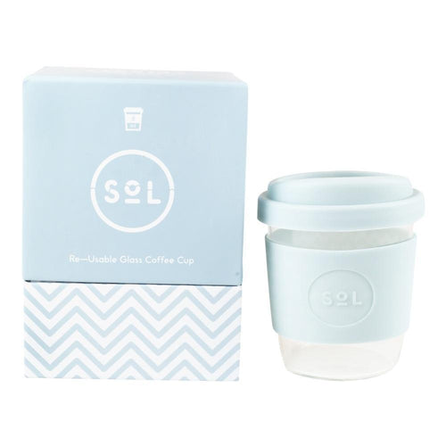 SoL Reusable Coffee Cup, Cool Cyan