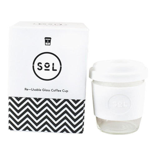 SoL Reusable Coffee Cup, White Wave