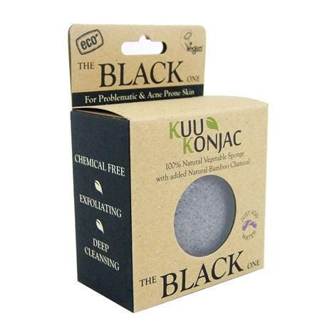 Kuu Konjac Sponge with Bamboo Charcoal