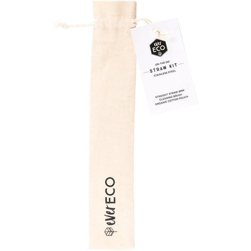 Ever Eco On-The-Go Straw & Cleaner, Silver - 1 Pack