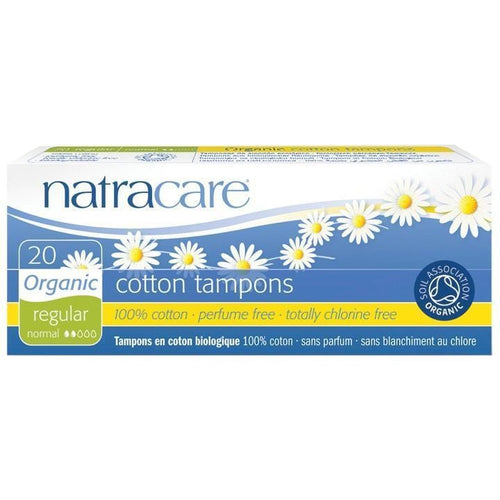 NatraCare Organic Cotton Tampons, Regular