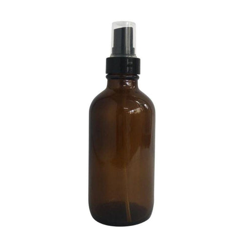 The Clean Collective Amber Glass Bottle With Spray, 120ml - The Clean Collective
