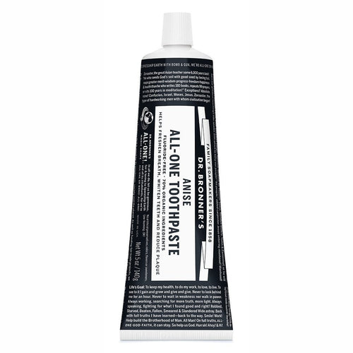 Dr. Bronner's Toothpaste, Anise