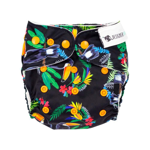 Designer Bums Art Pop AI2 Nappy, Toucan Totem