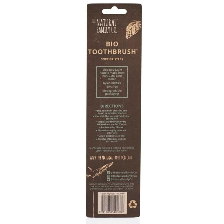 The Natural Family Co. Bio Toothbrush Twin Pack, Black & Ivory