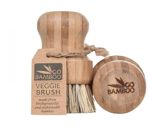 Go Bamboo Natural Bamboo Veggie Brush