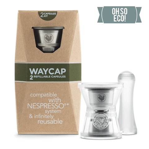 Waycap Refillable Coffee Capsules, 2 Pack