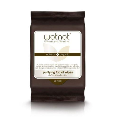 Wotnot Purifying Face Wipes for Oily/Combination Skin, 25 pack