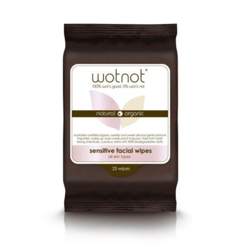 Wotnot Sensitive Face Wipes for all Skin types, 25 pack