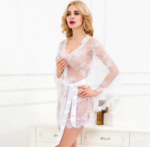 Sheer Illusion White Robe