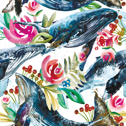 Floral Whales