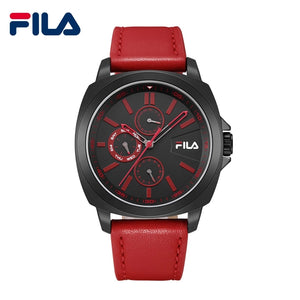 Fila 2018 New High-Quality Fashion Multifunctional Leather Strap Quartz Sports Men Watch 5ATM Waterproof Wrist Watch 38-789