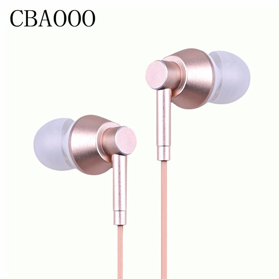In-ear Earphone Earbuds Stereo Sport Earbuds Noise Isolating Headset with Mic for Mobile phone Universal with Mic