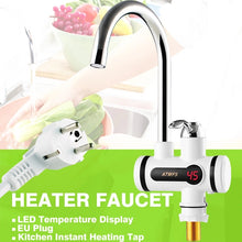 2018 Electric Hot Faucet Water Heater Electric Water Heating Tankless Kitchen Faucet, Digital Display Instant Water Tap 3000 W