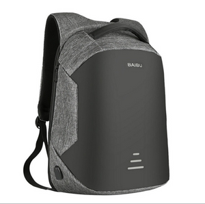 Simple External USB Charging Backpacks Oxford Cloth Anti-Theft Breathable Laptop Bags Unisex Casual Backpack.