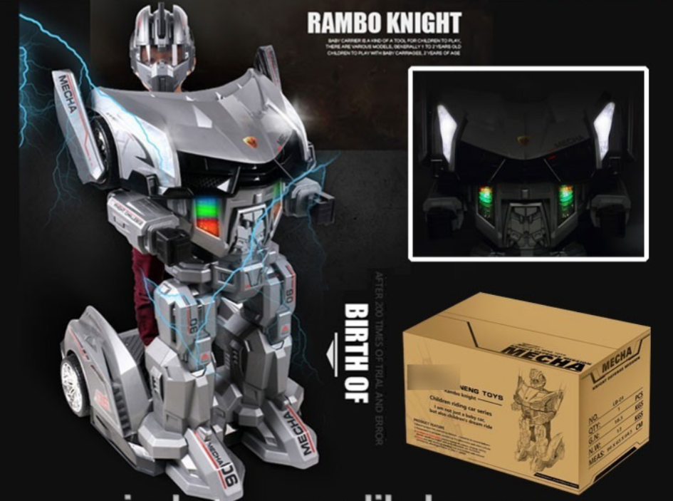 Rambo Knight Ride On Robot Toy