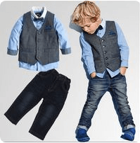 Lil' Gentleman's Fashion Handsomely Attired Outfit Set