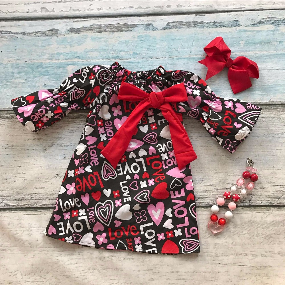 Valentine's Day Love Mini Dress