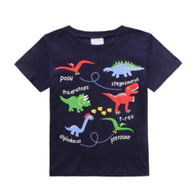 Striped Dinosaur Logo T-shirt