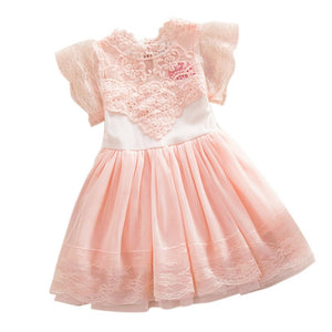 Angel Wings Princess Kids Lace Tulle Girl Dresses