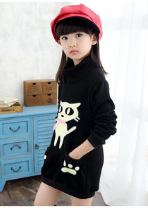 Thicken Fleece Pocketed SweaterDress
